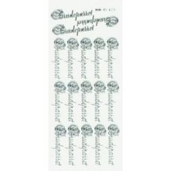 """Stickers """"Brudeparret"""" 45173 (sølv)"""