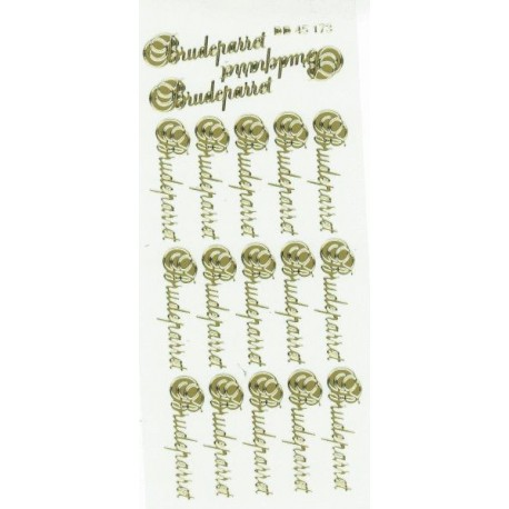 """Stickers """"Brudeparret"""" 45173 (guld)"""
