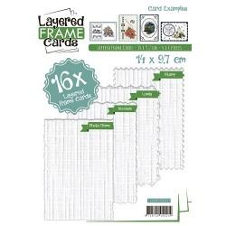 Hæfte med 16 udstansede kortforsider i 14 x 9,7 cm