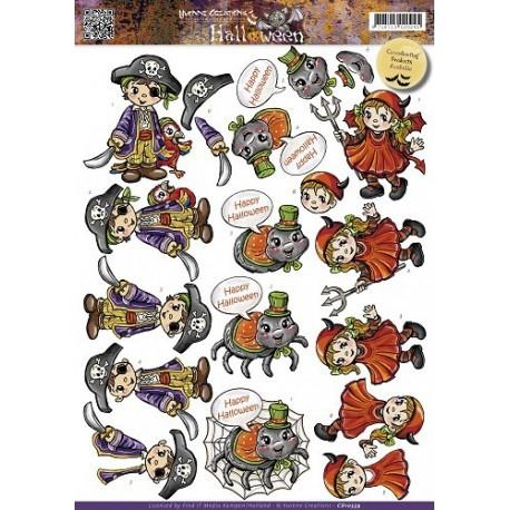 Halloween børn, pirat og djævel, yvonne design