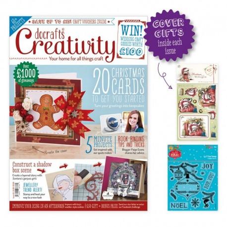 Creativity inklusiv 2 gratis gaver, 1 pk christmas with wellington og 7 clear stamps, nummer 62