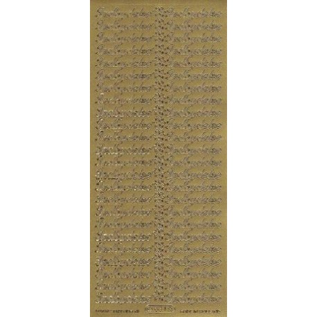 "Stickers ""indbydelse"" 634 (guld)"