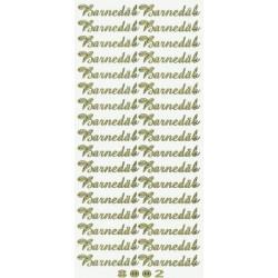 """Stickers """"barnedåb"""" 8002 (guld)"""