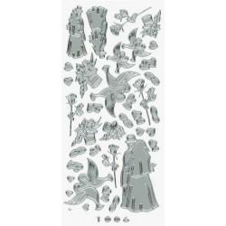 Stickers bryllupsmotiver 1006 (sølv)