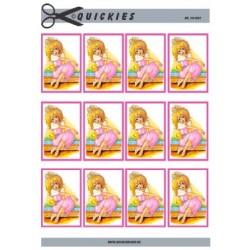 Sangkort motiv, Konfirmations pige ved vandkanten, Quickies card