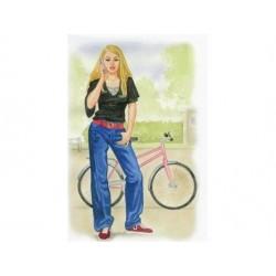 Telegram til konfirmation pige med cykel