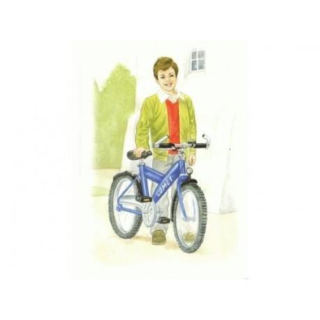 Telegram til konfirmation dreng ved cykel