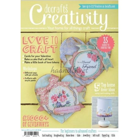Creativity inklusiv 3 gratis gaver, 1 pk med små udstanset 3d ark, pk med toppers og 9 clear stamps, nummer 55