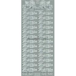 """Stickers """"Forlovelse"""" 625 (sølv)"""