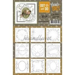 9 forskellige hobby Dots kort 20 UDEN STICKERS