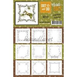 9 forskellige hobby Dots kort 21 UDEN STICKERS