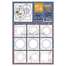 9 forskellige hobby Dots kort 22 UDEN STICKERS