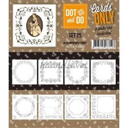 9 forskellige hobby Dots kort 25 UDEN STICKERS