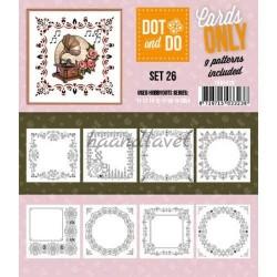 9 forskellige hobby Dots kort 26 UDEN STICKERS