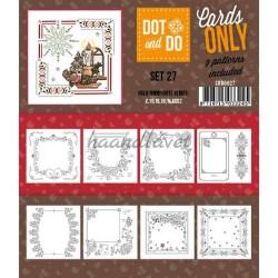 9 forskellige hobby Dots kort 27 UDEN STICKERS