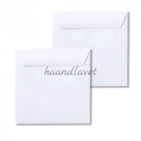 Kuverter kvadratiske hvid 14x14cm 20stk
