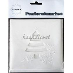 Pontura kort, med juletræ