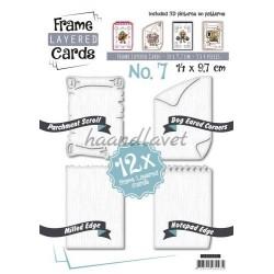 Hæfte 7 med 12 udstansede kortforsider i 14 x 9,7 cm