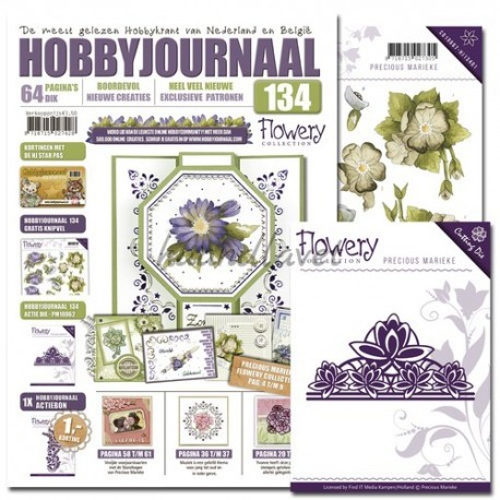 Hobbyjournaal 134 med gratis die med Fleur-de-Lis ornament og 1 gratis 3d ark
