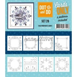 9 forskellige hobby Dots kort 28 UDEN STICKERS