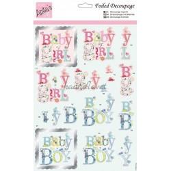 Udstanset 3d ark med baby tekst, Anita´s