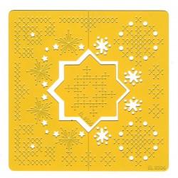 Broderi og embossing skabelon, firkantet skabelon, elines embroidery 06