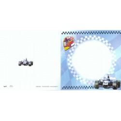 Kvadratiske kort, Blå racerbil